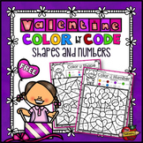 FREE Valentine Color by Code - Shapes and Numbers