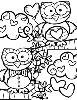 FREE Valentine Coloring Pages {Made by Creative Clips Clipart} | TpT