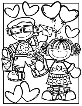 FREE Valentine Coloring Pages Made by Creative Clips Clipart  TpT