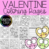 Valentine Coloring Pages (+writing papers) {Valentine Coloring Book}