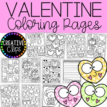 The cutest Valentines Coloring Pages | Skip To My Lou | 350x350