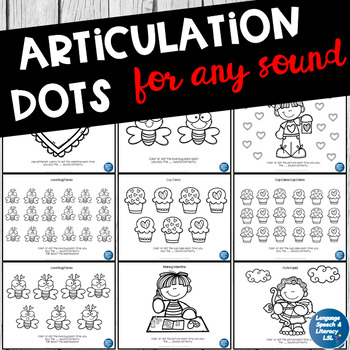 FREE Valentine Dot & Coloring Sheets for ANY Articulation Activity