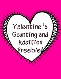 FREE Valentine Counting and Addition Worksheets