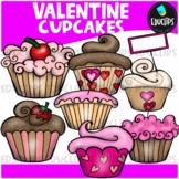 FREE Valentine Cupcakes Clip Art Bundle {Educlips Clipart}