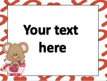 FREE Valentine Editable Cards