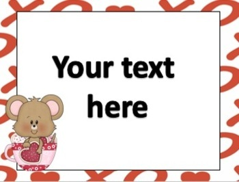 FREE Valentine Editable Cards