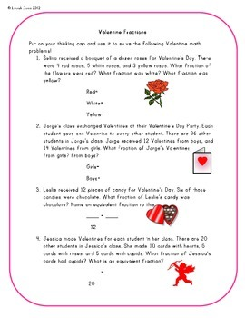 FREE Valentine Fraction Fun