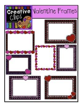 FREE Valentine Frames {Creative Clips Digital Clipart}