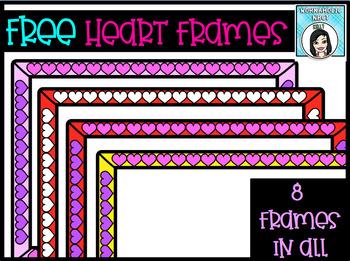 FREE Valentine Heart Frames Clip Art Set