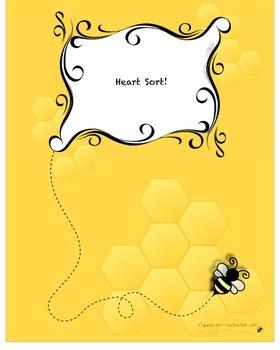 FREE! Valentine Heart Mason Jar Sort