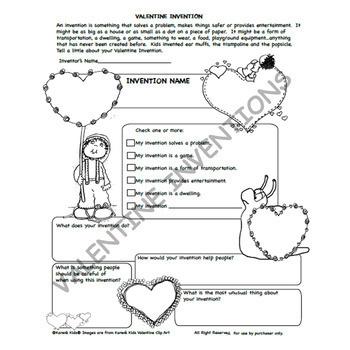 FREE Valentine Invention Printable