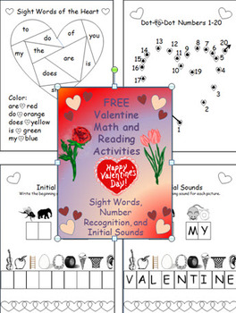 FREE Valentine Math and Reading Activities