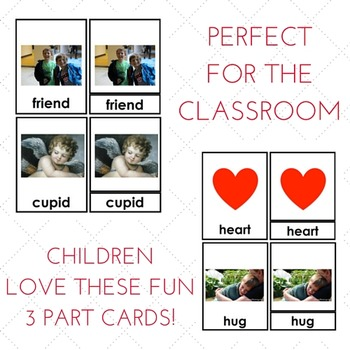 Valentine Montessori 3 Part Card