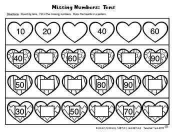 Valentine's Day FREE Patterns and Skip Counting