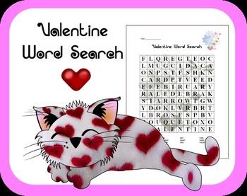 FREE Valentine Word Search