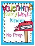 FREE Valentine Worksheets Kindergarten