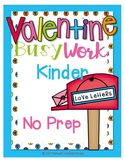 FREE Valentine Worksheets Kindergarten