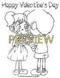 FREE Valentine's Day 2016 Coloring Page
