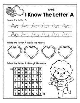 FREE Valentine's Day Activities For Kindergarten (Math & Literacy No Prep)