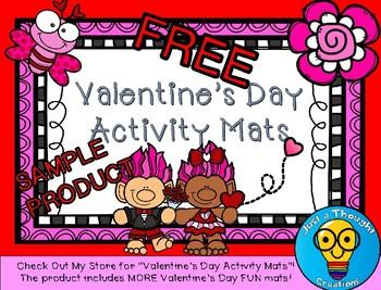 FREE- Valentine's Day Activity Mat
