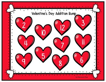 FREE Valentine's Day Addition Bump Game