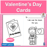 FREE!  Valentine's Day Cards for your Writing Center!