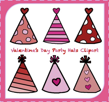 FREE Valentine's Day Clipart / Party Hats Clipart