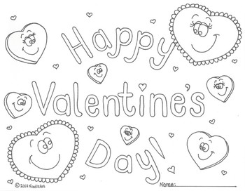 FREE Valentine's Day Coloring Page