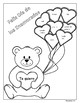 FREE!!! Valentine's Day Coloring Page with Spanish Color Words