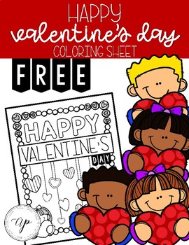 FREE Valentine's Day Coloring Sheet
