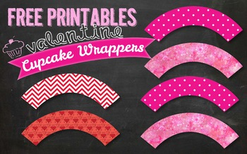 FREE Valentine's Day Cupcake Wrapper Printable PDF