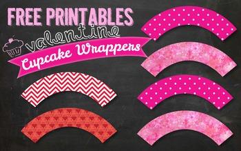 FREE Valentine's Day Cupcake Wrapper Printable PDF