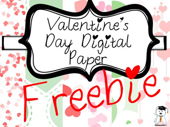FREE - Valentine's Day Digital Paper - 20 pieces {Personal + Commercial Use}
