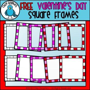 FREE Valentine's Day Frames Clip Art - Chirp Graphics