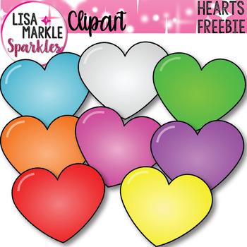 FREE Valentine's Day Hearts Clip Art