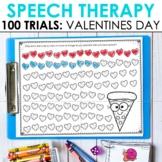 Valentine's Day 100 Articulation Trials in Speech Therapy
