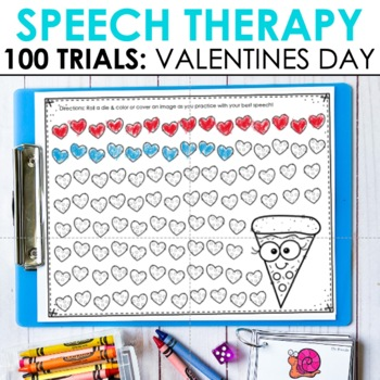 Speech Therapy Valentine's Day 100 Articulation & Apraxia Trials