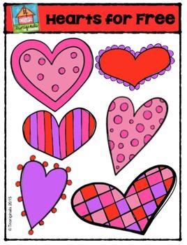 FREE Valentine's Day Hearts  (P4 Clips Trioriginals Digital Clip Art)