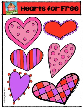 FREE Valentine's Day Hearts  (P4 Clips Trioriginals Digita
