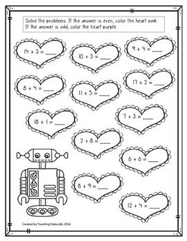 FREE Valentine's Day Math and Literacy Printables
