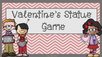 FREE Valentine's Day Statue Counting Game