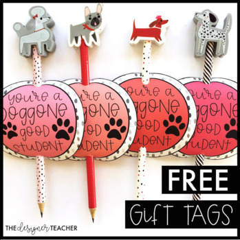 FREE Valentine's Day Tags | Dog Pencil Tags
