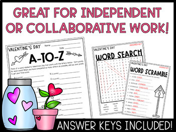 Valentine's Day Activities | Word Games