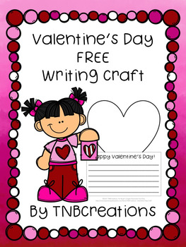 FREE Valentine's Day Writing Craft