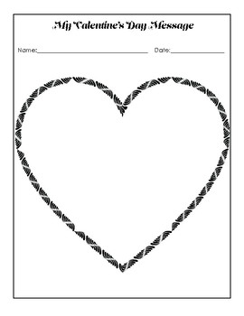 FREE Valentine's Day Writing/Drawing Sheet