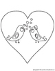 FREE Valentine's Day mobile and coloring pages
