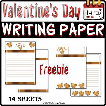 FREE - Valentine's Day writing paper
