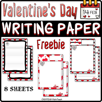 FREE - Valentine's Day writing paper