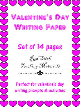 Valentine's Day Writing Paper