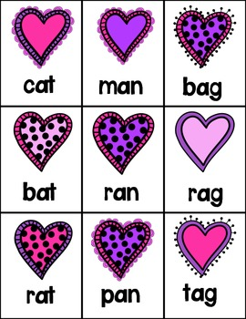 Valentine's CVC Word Game